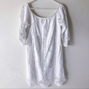 Anthropologie white lace dress / beach cover up